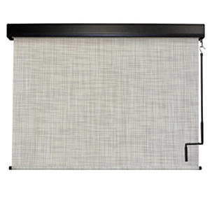 Crank Operated Solar Shade, Fabric Color - Caribbean