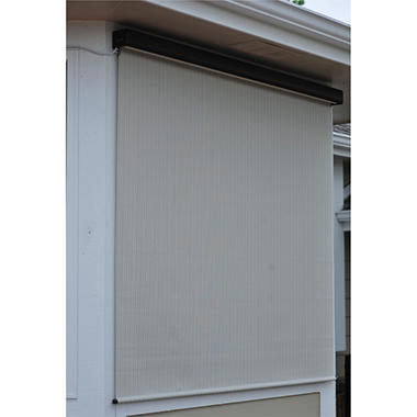 Motor Operated Solar Shade, Fabric Color - Tropic Bahama