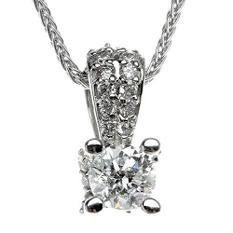 .70 ct. t.w. Diamond Solitaire Pendant (H-I, I1)