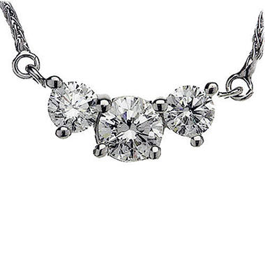 2.00 ct. t.w. 3-Stone Diamond Necklace (H-I, I1)