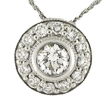 .95 ct. t.w. White Gold Diamond Pendant (H-I, I1)