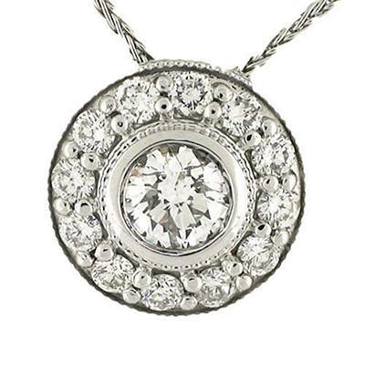 .95 ct. t.w. White Gold Diamond Pendant (H-I, I1)