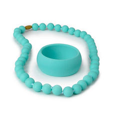 Chewbeads Teething Necklace and Bracelet Gift Set (Choose Your Color)