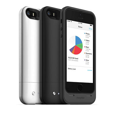 Mophie - iPhone 5 Space Pack 16GB - Black