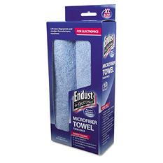 Endust for Electronics - Large-Sized Microfiber Towels Two-Pack, 15 x 15, Unscented, Blue -  2/Pack