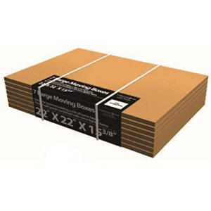 "Large Moving Boxes - 22"" x 22"" x 15-3/8"", 7 pack"