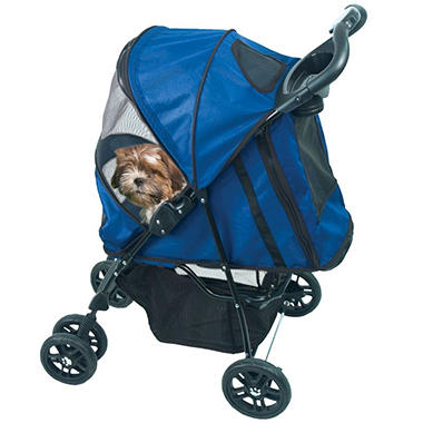 Pet Gear Happy Trail Stroller - Blue