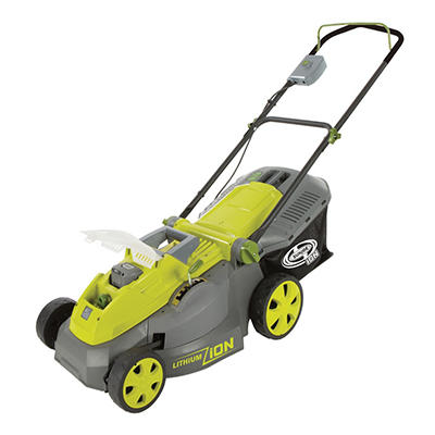 "Sun Joe iON 40-Volt Cordless 16"" Lawn Mower with Brushless Motor"