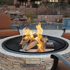 Sun Joe 35-in. Cast-Stone Fire Pit (River Rock)