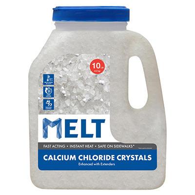 MELT 10 Lb. Jug Calcium Chloride Crystals Ice Melter - MELT10CC-J
