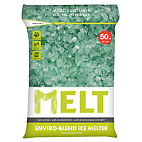 MELT 50 Lb. Resealable Bag Premium Enviro-Blend Ice Melter w/ CMA - MELT50EB