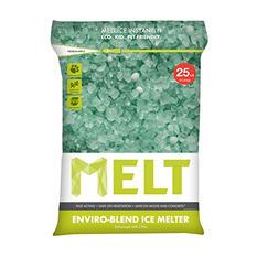 MELT 25lb. Premium Enviro Blend Ice Melter w/CMA Pallet (Pallet of 100 bags)