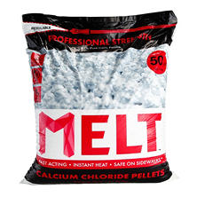 50 lb. MELT Professional Strength Calcium Chloride Pellets Ice Melter - Re-Sealable Bag
