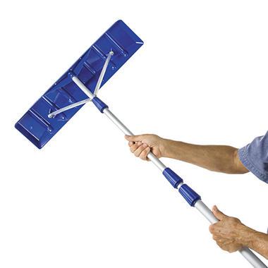 Snow Joe 21 Twist N Lock Telescoping Snow Shovel Roof