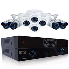 Night Owl Battery Backup 8 Channel 960H Security System with 4 900TVL Bullet Cameras, 4 900TVL Dome Cameras, 1TB Hard Drive, and 75' Night Vision