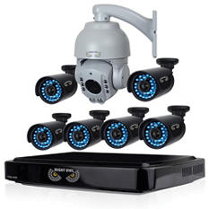 Night Owl 8 Channel 720p  Security System with 1TB HDD, 6 720p HD Cameras & 1 720p HD PTZ Camera with 100' Night Vision