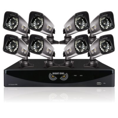 Night Owl 16 Channel 960H HDMI Security System with 1TB HDD & 8 Indoor/Outdoor 960H Bullet Cameras with 75' Night Vision