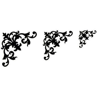 Glimmer Screens Stencils 3/Pk-Decorative Corners