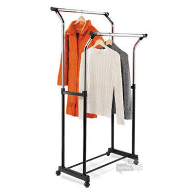 Adjustable Height Double Flared Garment Rack