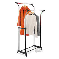 Adjustable Height Double Flared Garment Rack