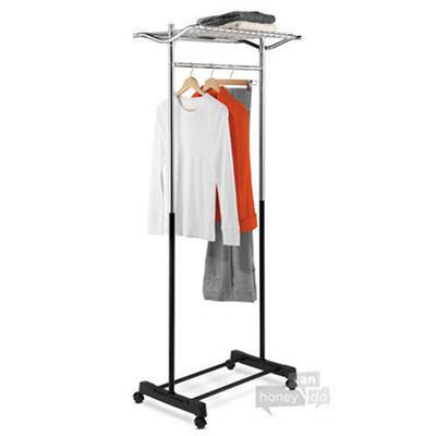 Top Shelf Garment Rack