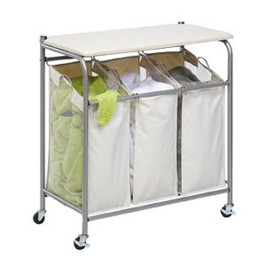 Honey-Can-Do Sort & Iron Laundry Center (Natural/Silver)
