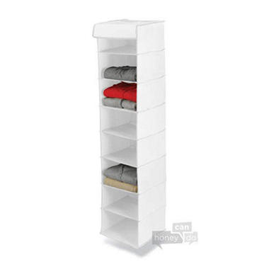 8-Shelf Hanging Organizer - White