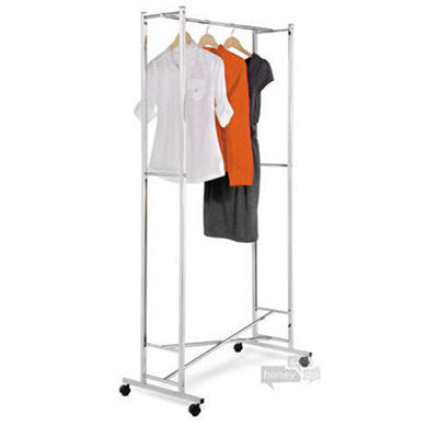 Folding Chrome Garment Rack