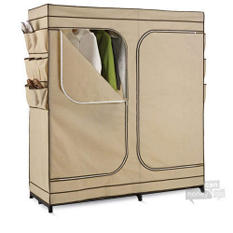 "60"" Wide Wardrobe Closet w/ Shoe Organizer"