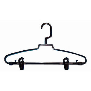 Hotel-Style Hangers with Clips - Brown - 72 pk.