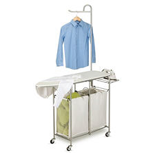 Honey-Can-Do Foldable Valet Laundry Center (Natural/Silver)