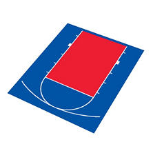 Duraplay Basketball Half Court - Royal Blue and Red  (Choose Your Color)