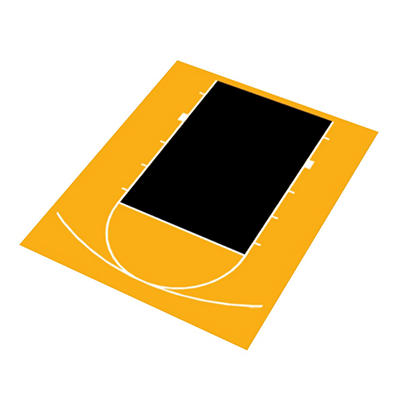 Duraplay Basketball Half Court - Yellow and Black (Choose Your Color)