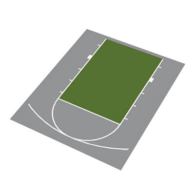 Duraplay Basketball Half Court - Gray and Sage Green (Choose Your Size)