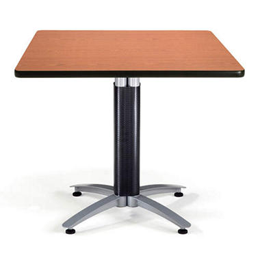 Square Chrome-Base Table - Cherry - 36