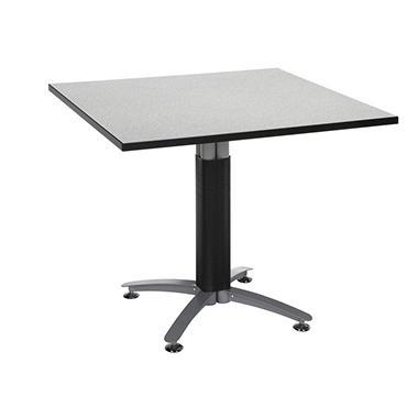 Square Metal-Base Table - Gray Nebula - 36