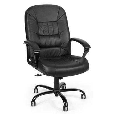 OFM - Big & Tall Leather Chair (Black)