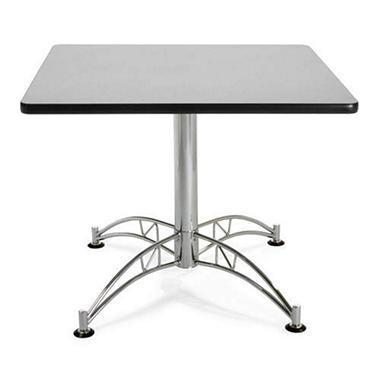 Square Chrome-Base Table - Gray Nebula - 36
