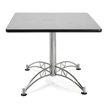 Square Chrome-Base Table - Gray Nebula - 36""