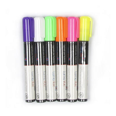 LumaVue Fluorescent Erasable Markers - 6 pk