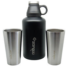 Reduce 64oz. Vacuum Growler and Vacuum Steel Pints - Assorted Colors