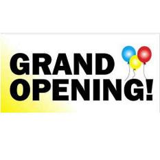 "Digital Vinyl ""Grand Opening"" Banner - 3' x 6'"