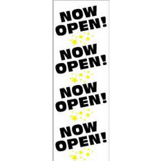 "Digital Vinyl ""Now Open"" Banner - 2' x 6'"