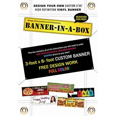 Custom Banner - 3' x 8'