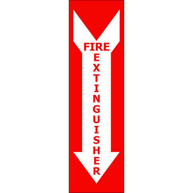 "Fire Extinguisher - 4"" x 14"" Decal - 6 Pack"