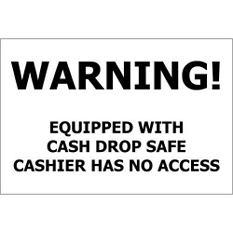 "Cash Drop Safe - 12"" x 8"" Decal - 6 Pack"