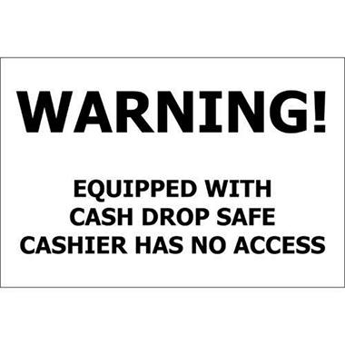 "Cash Drop Safe - 12"" x 8"" Decal - 6 Pack"