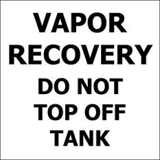 "Vapor Recovery - 6"" x 6"" Decal - 6 Pack"