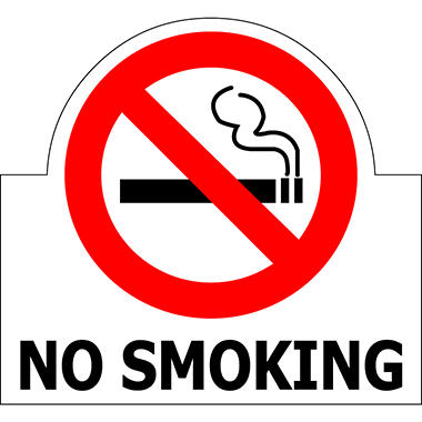 "No Smoking - 6"" x 5 1/2"" Die Cut Decal"