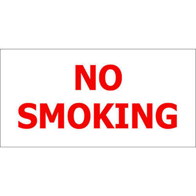 "No Smoking - 12"" x 6"" Decal - 6 Pack"